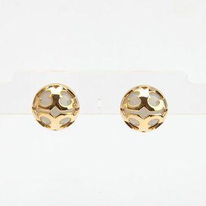 Tory Burch Gold/Clear Stud Miller Bubble Earrings